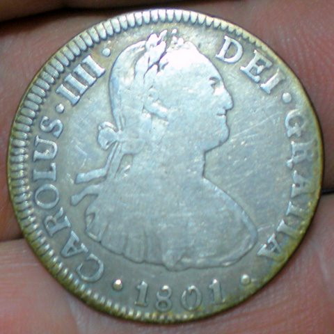 1801 spanish real found at Thompsons