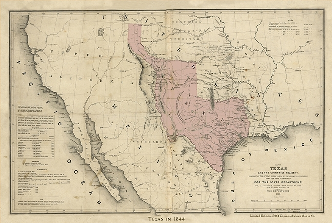 The Shape Of The Republic Of Texas As It Would Appear On A Modern Map Of The United States Compliments Of Bruce Grethen Member Of The Fort Bend County