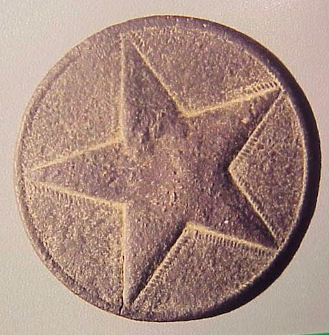 Confederate Hat Star found at Sieana.