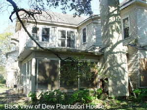 Back view of Dew Plantation House.
