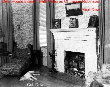 Dew House Interior  With Pictures Of Jessie Robinson, Alice Dew, Col. Agnew [Front]