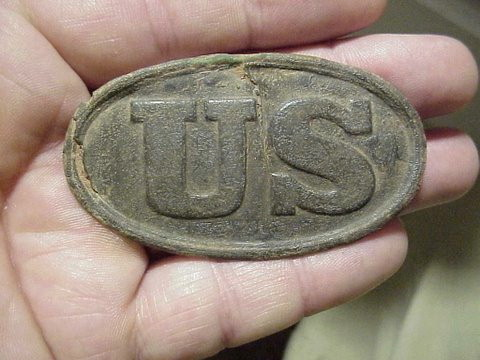 Model 1839 US belt buckle found near Duke, Texas.