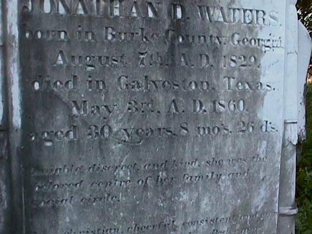Inscription on the large marker.