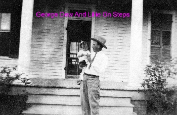 George Dew And Lillie On Steps